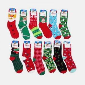 6 pair christmas socks women