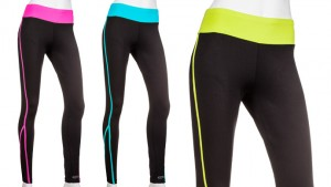 Gametime Activewear Performance Pants for Ladies with Contrast Waistband