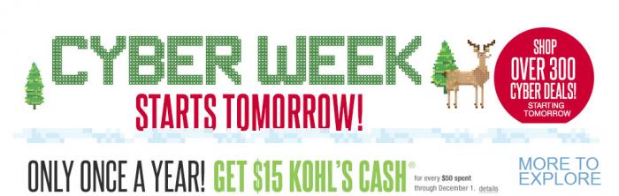 Kohls Cyber Monday
