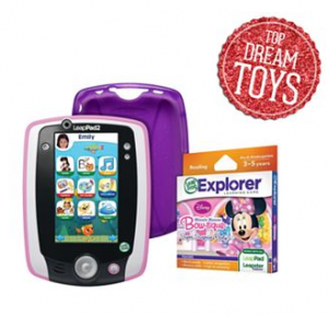 LeapFrog LeapPad2 Power Pink Tablet, Disney Minnie Mouse Game & Gel Skin Gift Set