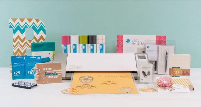 Silhouette Cameo Die Cutting Machine + Vinyl Starter Kit Bundle + $25 + $10 Download Card