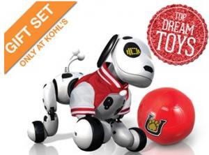 Zoomer Robotic Dog, Jacket & Ball Gift Set