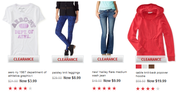 aeropostale extra 30 off clearance finds