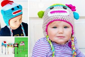 baby monkey knit hats