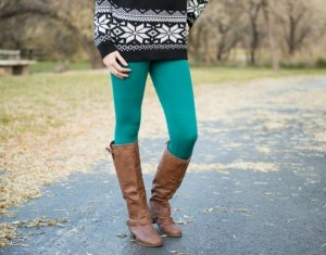 cable knit fleece leggings