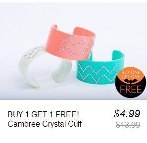 cambree crystal cuff