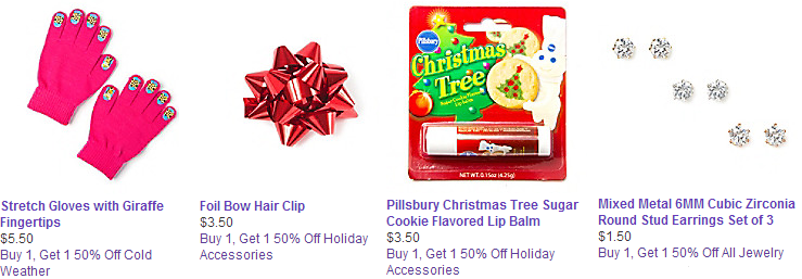 claires buy 1 get 1 half off sale