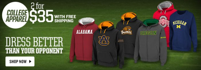 college sweatshirts