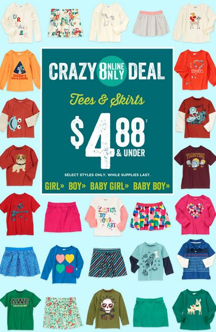 crazy 8 488 an dunder tees and skirts
