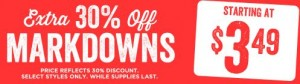 crazy 8 markdowns