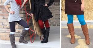 curvy or basic fleece lined leggings