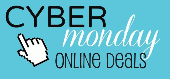 cyber monday with finger
