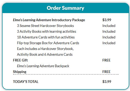 elmos learning adventure summary *HOT* Elmos Learning Adventure: GIANT Introductory Package to Elmos Learning Adventure for $3.99 Shipped!! Includes FREE Backpack & MORE!