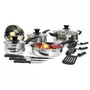 essential home stainless steel cookware set