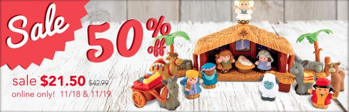family christian stores little people nativity