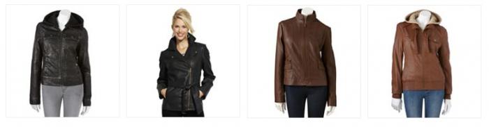 faux leather jackets kohls