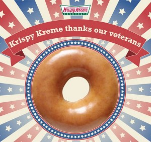 free krispy kreme veterans day