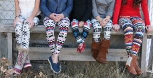 holiday leggings for girls