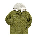 hooded quilted cargo jacket