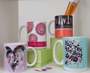 ink garden custom photo mug