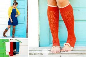 knit open toe socks