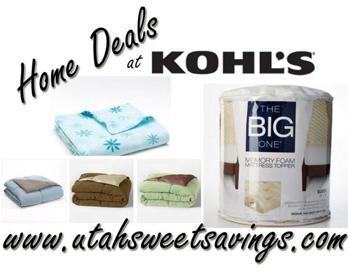 kohls home deals