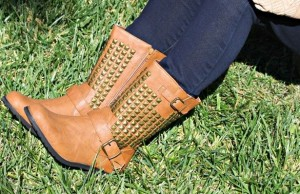 leather studded boots