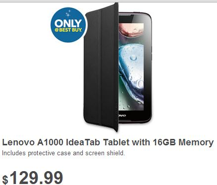 lenovo a 1000 ideatab tablet