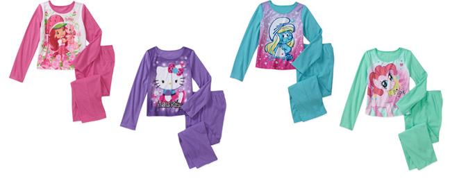 walmart girls pajamas