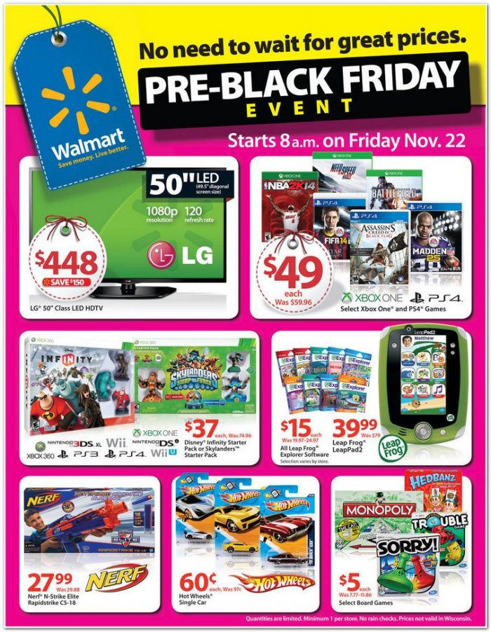 Black Friday Usa Price >> Walmart S Pre Black Friday Ad Released Starts This Friday Utah