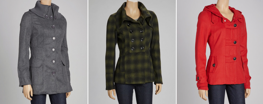 zulily cold spell pea coats