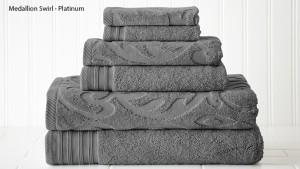 Casablanca Collection 100 Egyptian Cotton 6-Piece Towel Set