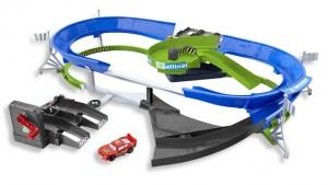 Disney Pixar Cars Stunt Racers Double Decker Speedway Set
