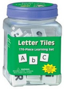 Eureka Tub Of Letter Tiles 215x300 Tub of 176 Letter Tiles for $5.30 or Tub of 200 Counters for $6.66!