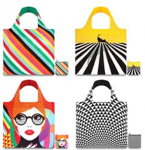 LOQI Eco-Friendly, Reusable & Water-Resistant Tote Bags in Choice of 4 Styles