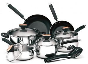 Paula Deen Signature Stainless Steel 12-Piece Complete Cookware Set