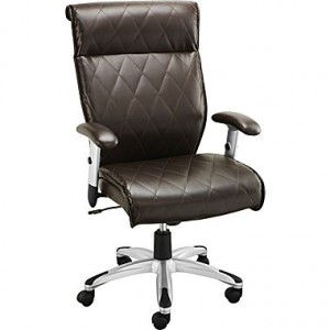 Staples Lundon Bonded Leather Managers Chair, Brown