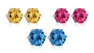 Swarovski Elements Birthstone Stud Earrings!