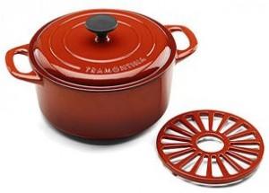 Tramontina 5.5-Quart Cast Iron Dutch Oven with Bonus Trivet, Assorted Colors