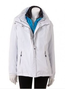 ZeroXposur Hooded Houndstooth 3-in-1 Systems Jacket