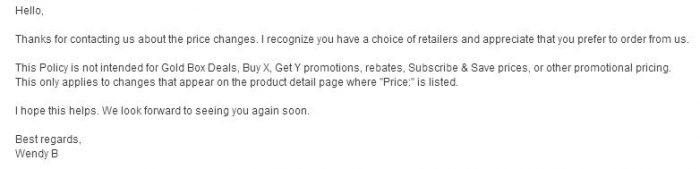amazon policy price changes