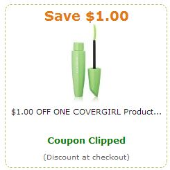 covergirl coupon *HOT* $1 CoverGirl Amazon Coupon = Makeup As Low As 5¢! *GONE*