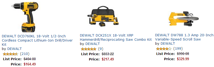dewalt sale DEWALT Tools Over 60% Off! Today Only! Plus $25 off $100 Purchase! *Will Arrive By Christmas!*