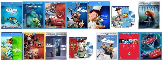 disney pixar movies list