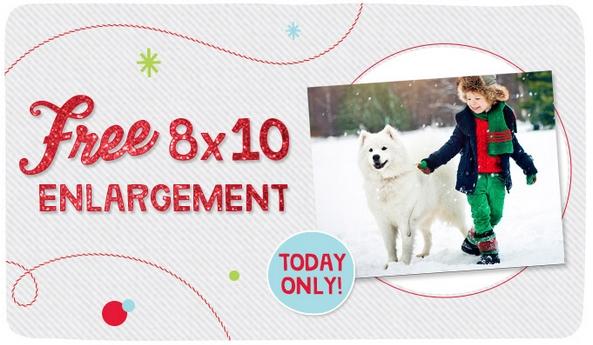 free 8x10 walgreens enlargement