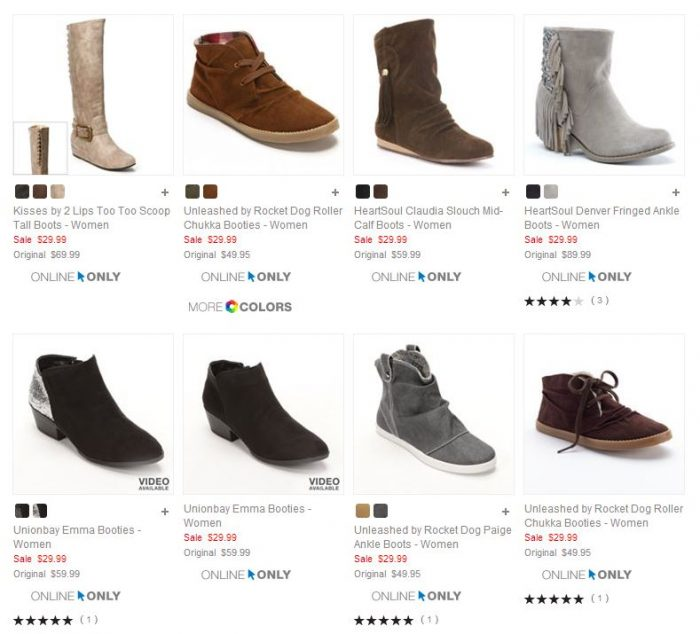 ae757c6007 Kohl's has some really cute women's boots for $29.99! Plus you can use code  CYBERWEEK to save 20%, making them just $23.99 each. Shipping is free  sitewide!