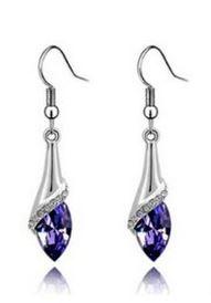 purple crystal dangle teardrop earrings Crystal Teardrop Dangle Earrings for $1.99 Shipped! Choose Green, Blue, or Purple!