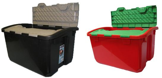real organized 12 gallon general tote with hinged lid