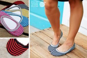 stripe lace trim socks