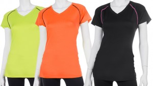 2-Pack Gametime V-Neck Tee for Ladies in Assorted Colors